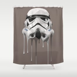 Stormtrooper Melting Shower Curtain