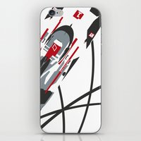 tron iPhone & iPod Skins featuring e-tron by Cale Funderburk