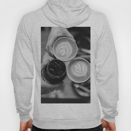 Coffee Friendship (Black and White) Hoody