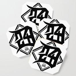 D24 Designs logo Coaster