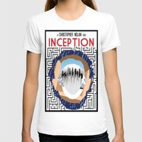 inception T-shirts featuring Inception Minimalist Film Poster by Sean Breeding Arthouse