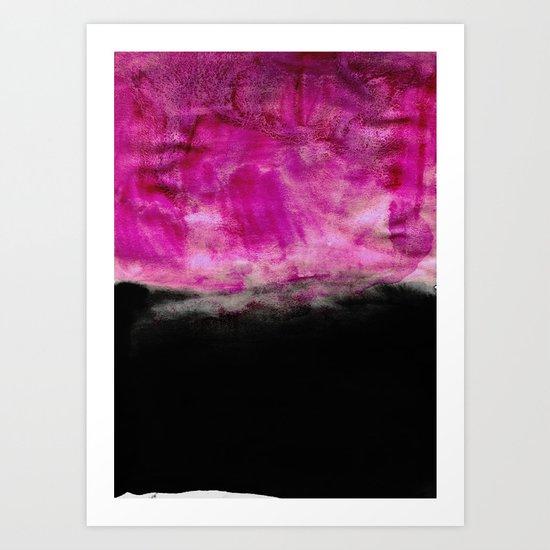Magenta & Black Art Print