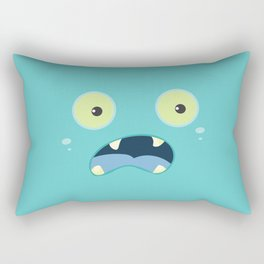 Monster Face Rectangular Pillow