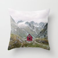 mint Throw Pillows featuring Mint Hut by Kevin Russ