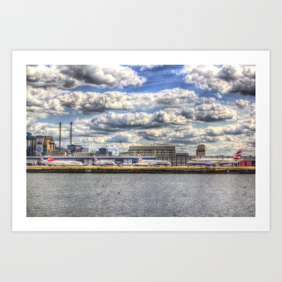 London city Airport Art Print