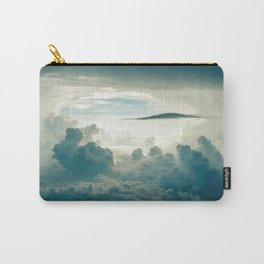 Clouds white & grey Carry-All Pouch
