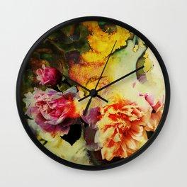 chromo roses Wall Clock
