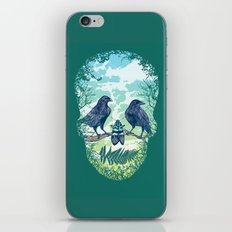 Nature's Skull (Green) iPhone & iPod Skin
