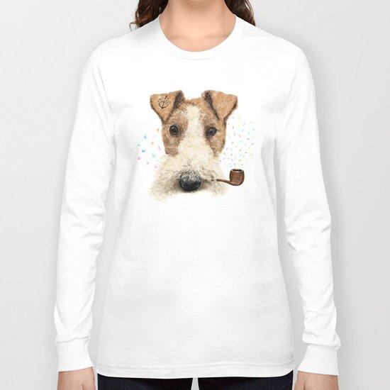 fox terrier sailor Long Sleeve T-shirt
