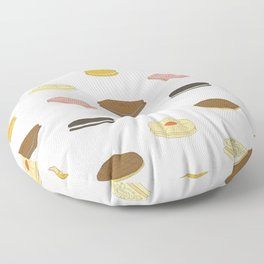 biscui - biscuit pattern Floor Pillow