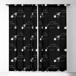 Thirties Custom Hot Rod Silhouette  Blackout Curtain
