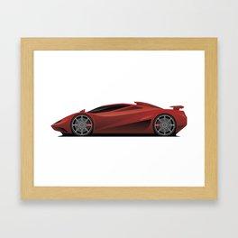 Exotic Modern Super Car Concept Framed Art Print