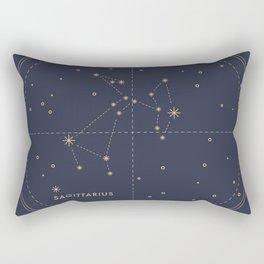 Vintage Sagittarius Rectangular Pillow