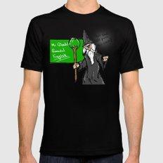 Gandalf the teacher Mens Fitted Tee MEDIUM Black