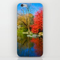 central park iPhone & iPod Skins featuring Central Park by Davide Carnevale