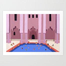 Amanjena Poolside Art Print