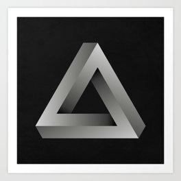 Infinite Triangle Art Print