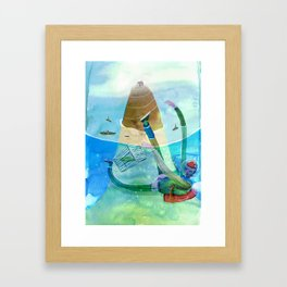 blue lagon Framed Art Print