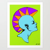 goddess Art Prints featuring Goddess by Helena Bowie Banshees