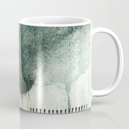 Last Kiss: a minimal, abstract watercolor piece in greens Coffee Mug