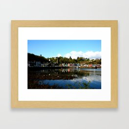 Tobermory, in the afternoon sun Framed Art Print
