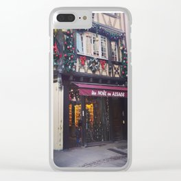 Christmas in Strasbourg Clear iPhone Case