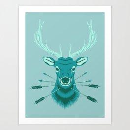 Elk Head Art Print