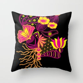 The Florist (Black) ! Throw Pillow