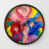 jem Wall Clocks featuring Jem and the Holograms by Megan Mars