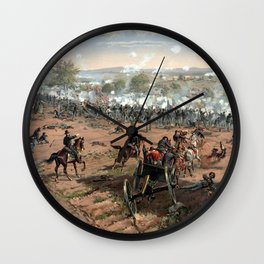 The Battle of Gettysburg Wall Clock