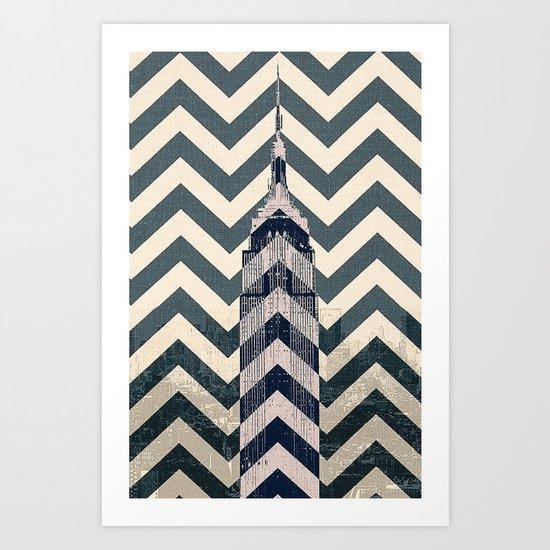 Chevron Empire Art Print