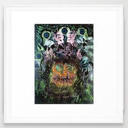 Mental Prison For An Alien Samurai Framed Art Print