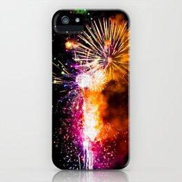 Fireworks Display Addison Texas Kaboom Town 2017 iPhone Case