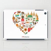 ukraine iPad Cases featuring I Love Ukraine by Marina Zlochin