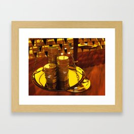 Gold investment Framed Art Print
