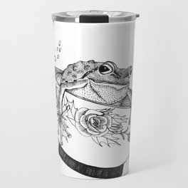 Pacific Northwest Tree Frog Riding in a China Teacup Travel Mug