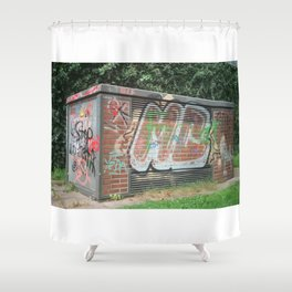 Power Box Shower Curtain
