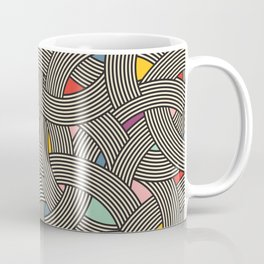 Modern Scandinavian Multi Colour Color Curve Graphic Coffee Mug