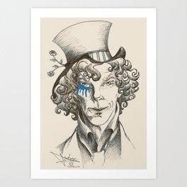 Mad Hatter (blue) Art Print