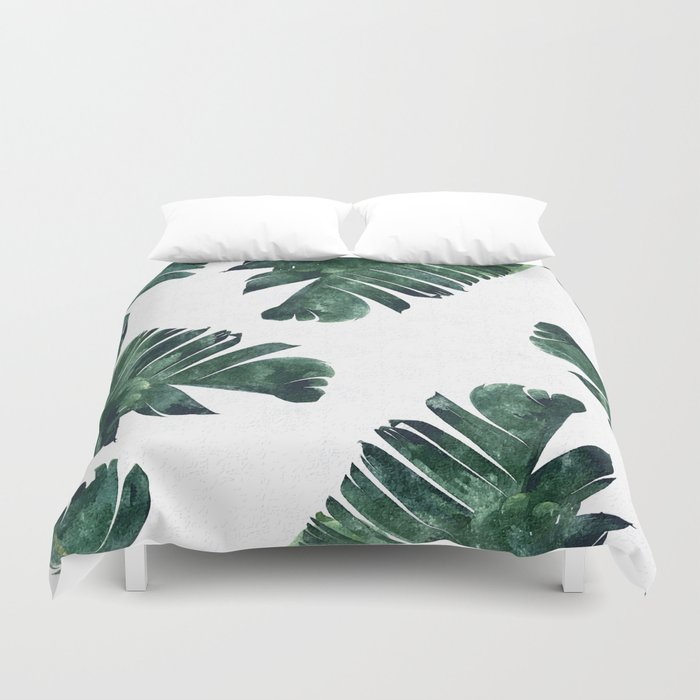 Banana Leaf Watercolor Society6 Buy Decor Duvet Cover