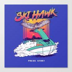 Ski Hawk Canvas Print