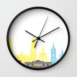 Guadalajara MX skyline pop Wall Clock