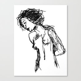 Girl, Scratch Canvas Print