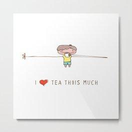 I love tea boy Metal Print