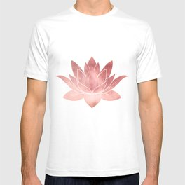Pink Lotus Flower | Watercolor Texture T-shirt