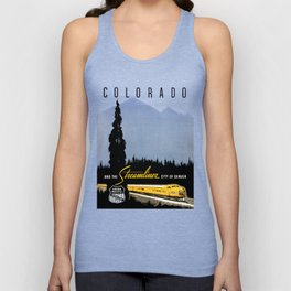 Union Pacific Train poster 1936 - Retouched Version Unisex Tank Top