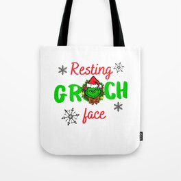 the grinch resting grinch face christmas gift Tote Bag
