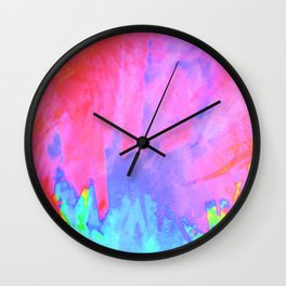 acid splash Wall Clock