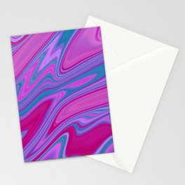 Liquid Iridescent Pastel Marble Abstract Texture  Stationery Cards