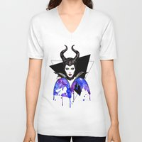 maleficent V-neck T-shirts featuring Maleficent by Simona Borstnar